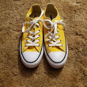 Yellow Converse low top sneakers